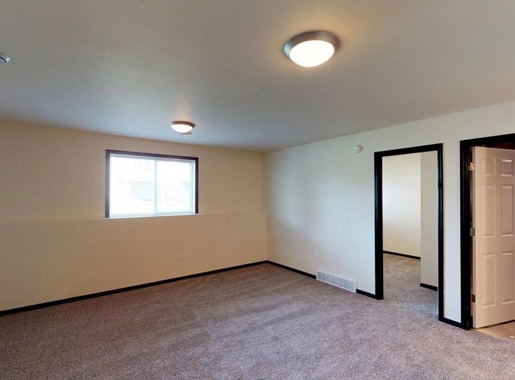 second living room, basement
