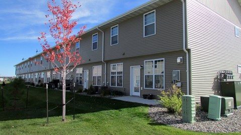 exterior, patio, townhome