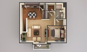 1 Bedroom - Upper Level