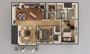 2 Bedroom - Lower Level