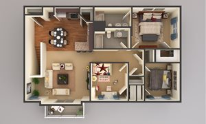 3 Bedroom - Upper Level