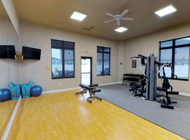 fitness center, gym, workout area