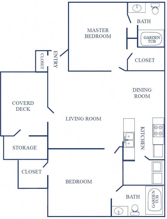Alternative Floorplan of Two Bedroom Layout