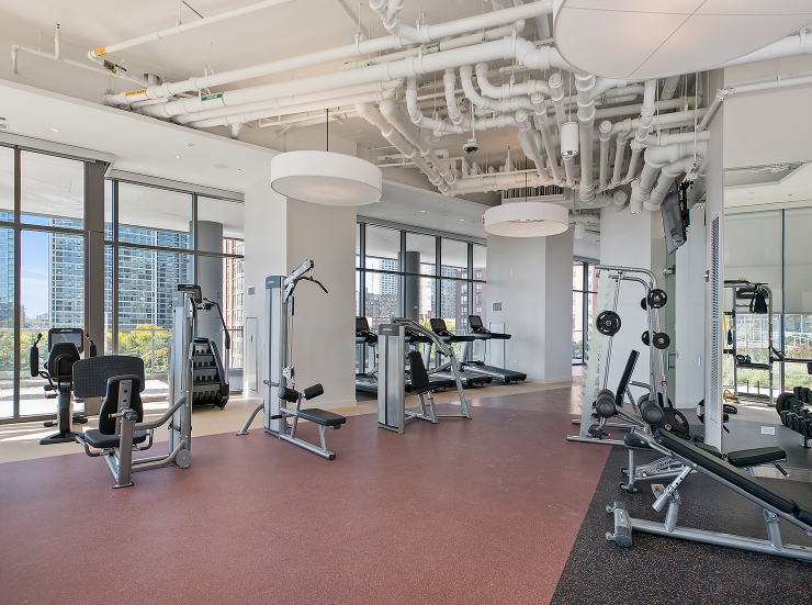 State-of-the-Art Fitness Center at 1001 South State, Chicago, Illinois