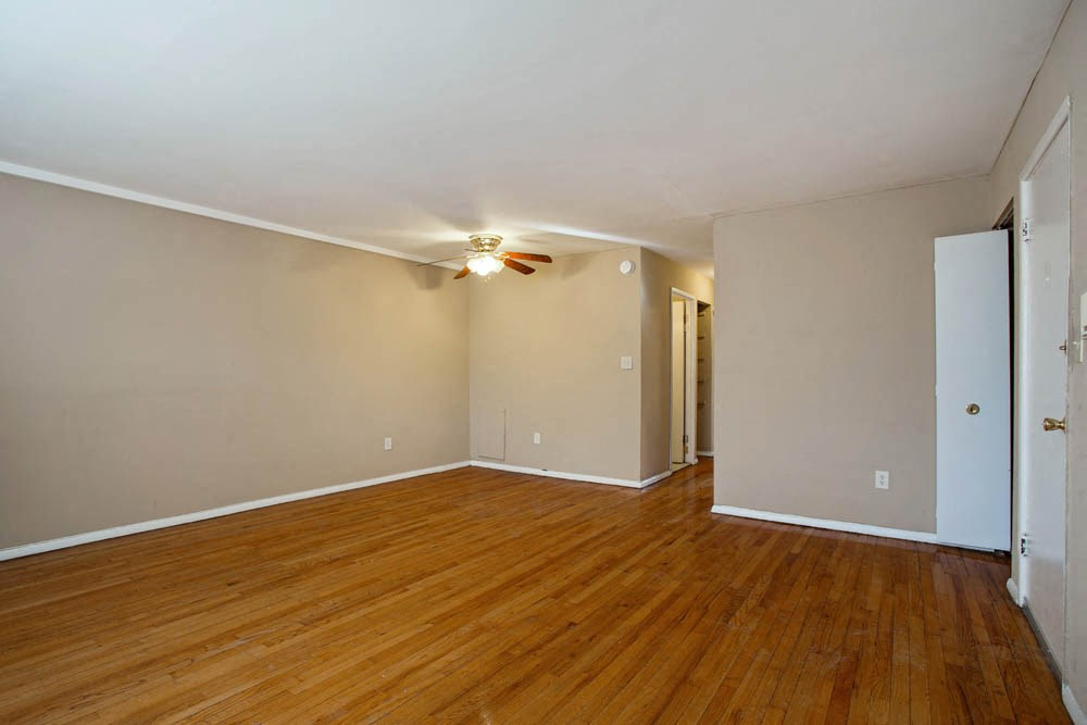 Apartments at Windsor Arms in Baltimore feature hardwood floors.