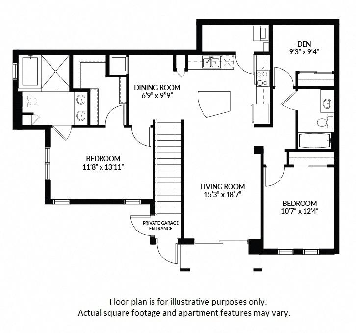 1, 2 & 3 Bedroom Apartments