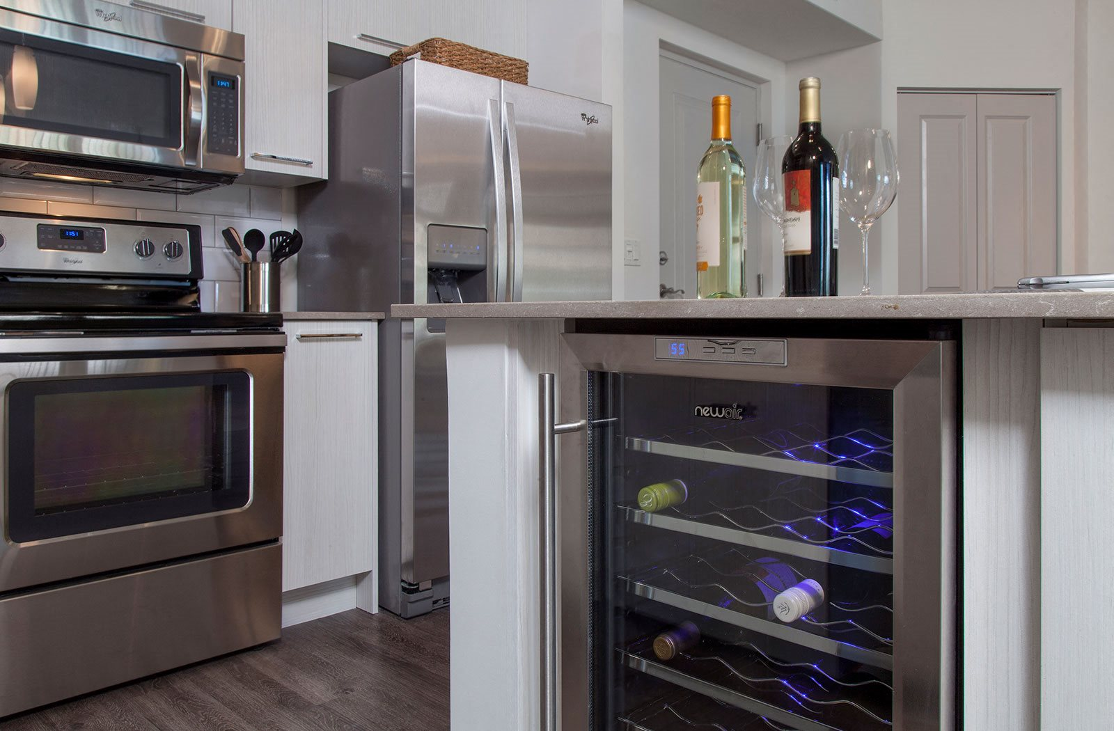 Modern Kitchen with Wine Coolers at Windsor at Delray Beach, Florida, 33483