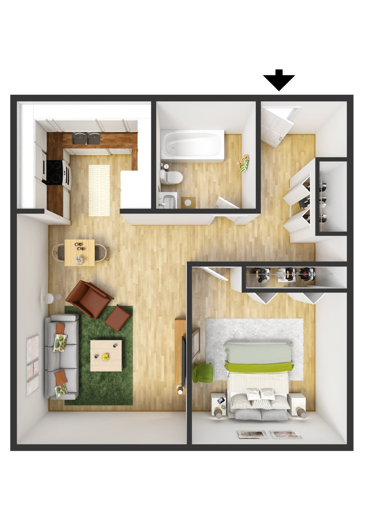 Floor plans of highland place apartments in grand rapids mi - One bedroom apartments grand rapids ...