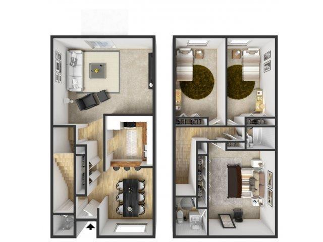 3 Bedroom Townhouse Floor Plan 5