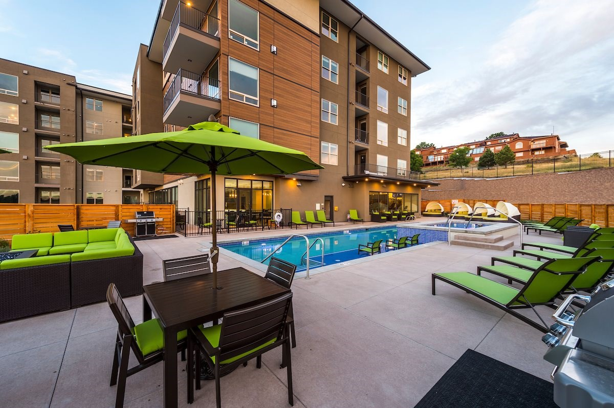 Swimming Pool at Union West Apartments in Lakewood, CO