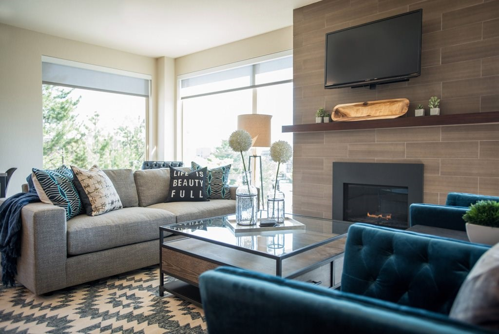 Living Room at Union West Apartments in Lakewood, CO