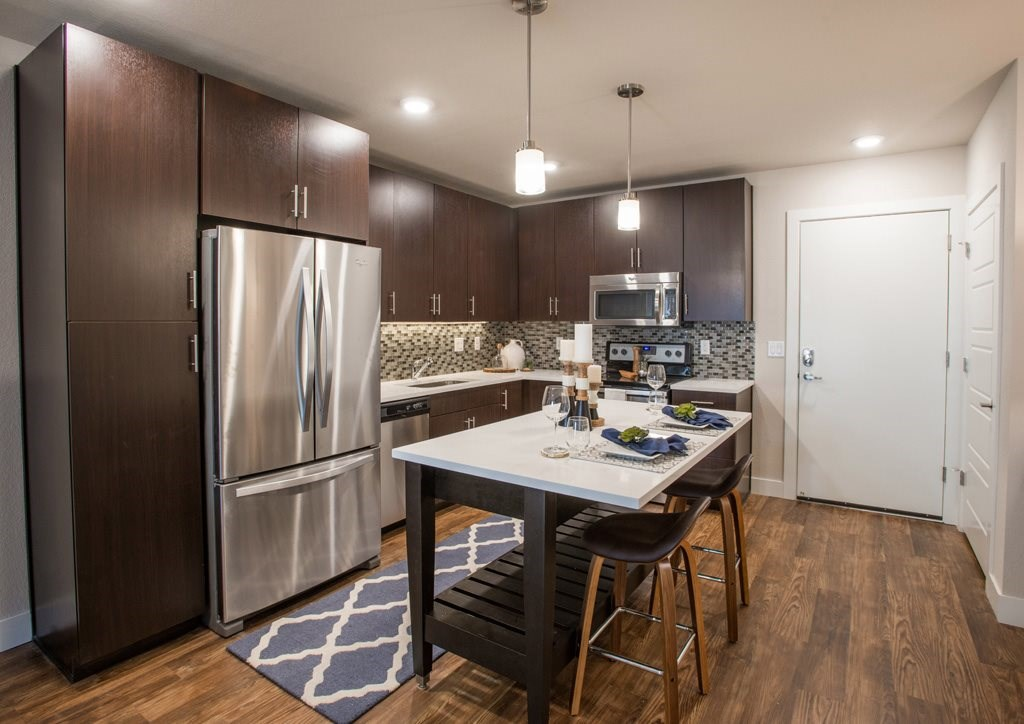 Gourmet Kitchen at Union West Apartments in Lakewood, CO