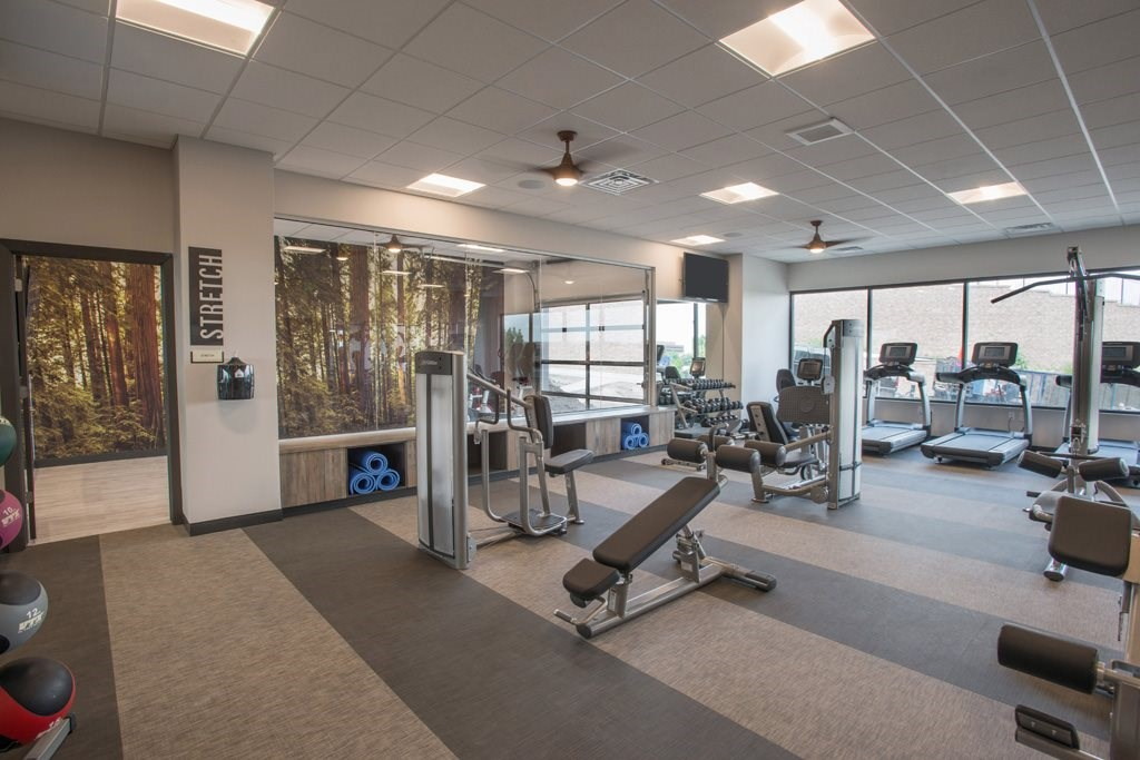 Fitness Center at Union West Apartments in Lakewood, CO