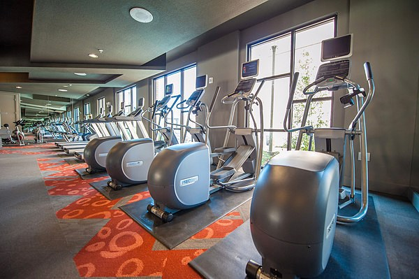 Fitness Center Cardio Equipment at The Encore Apartments, Texas, 75024