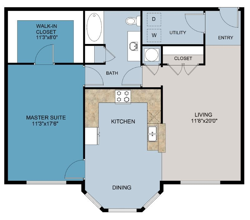 The Worthington Floor Plan 1