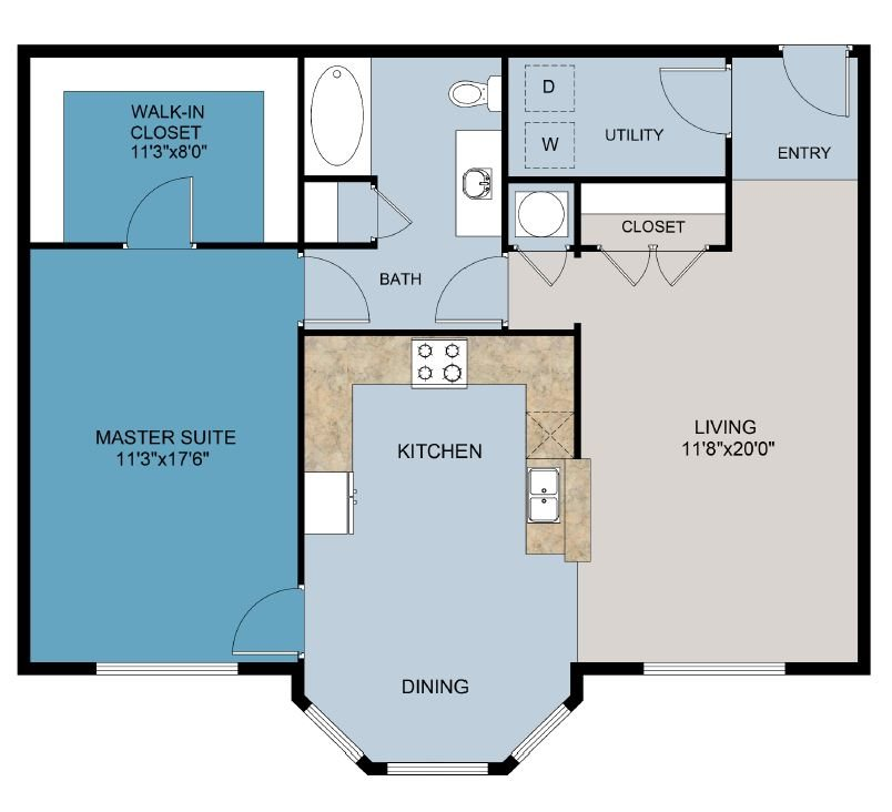The Worthington - 3rd Floor Floor Plan 3