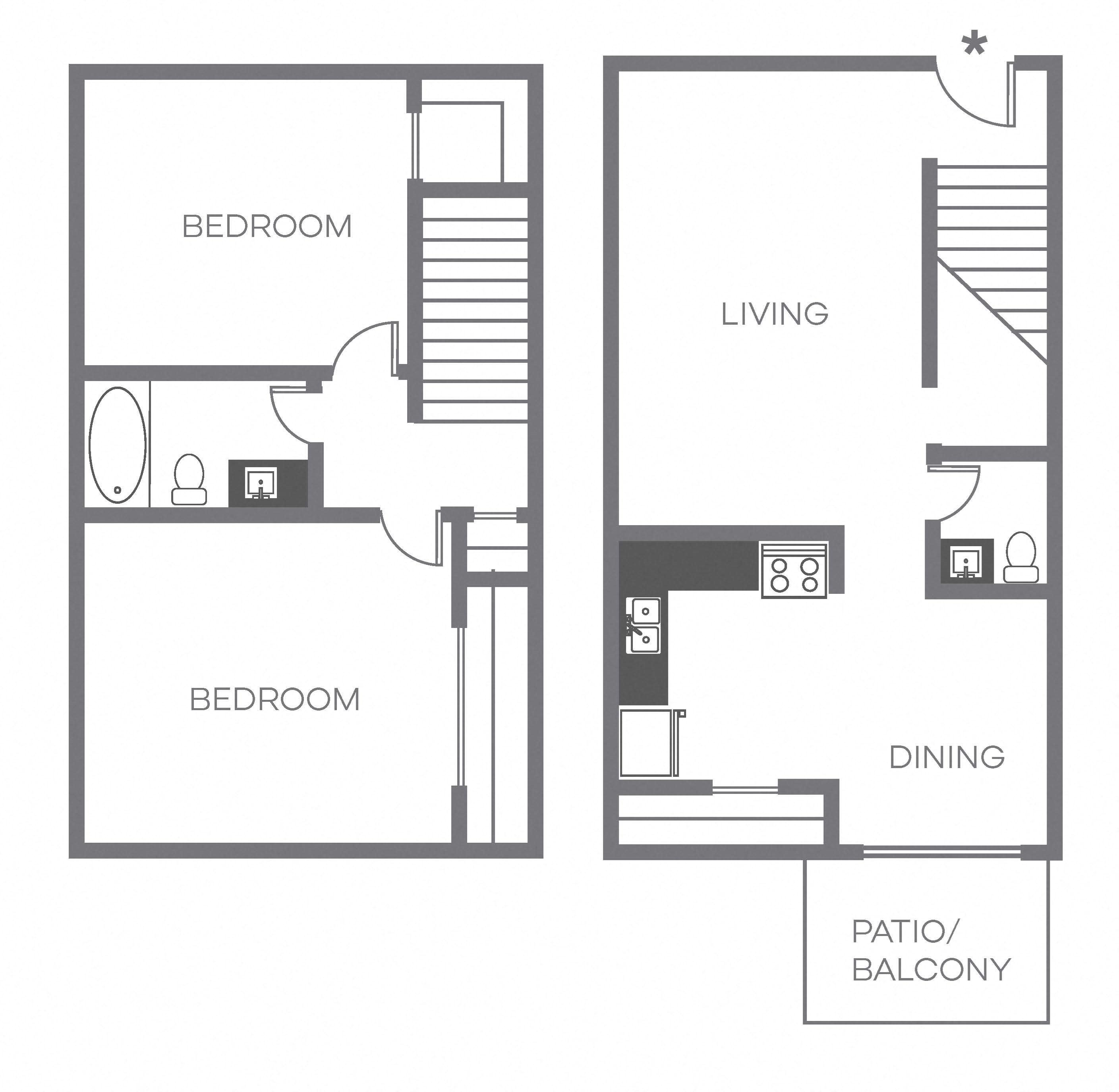 B2 TH Floor Plan 3