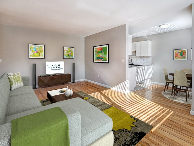 Apartments with Spacious Living Room at Lock Vista
