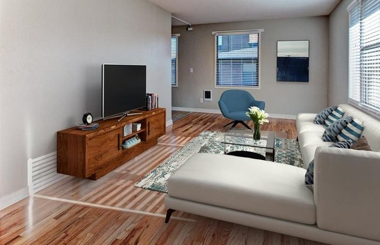 living room of apartment building located in seattle washington