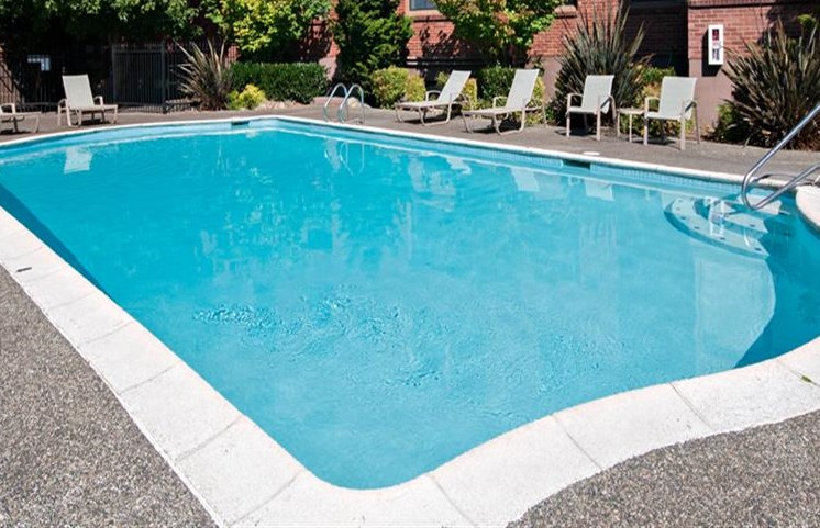 exterior pool view during daytime for apartment building in seattle washington