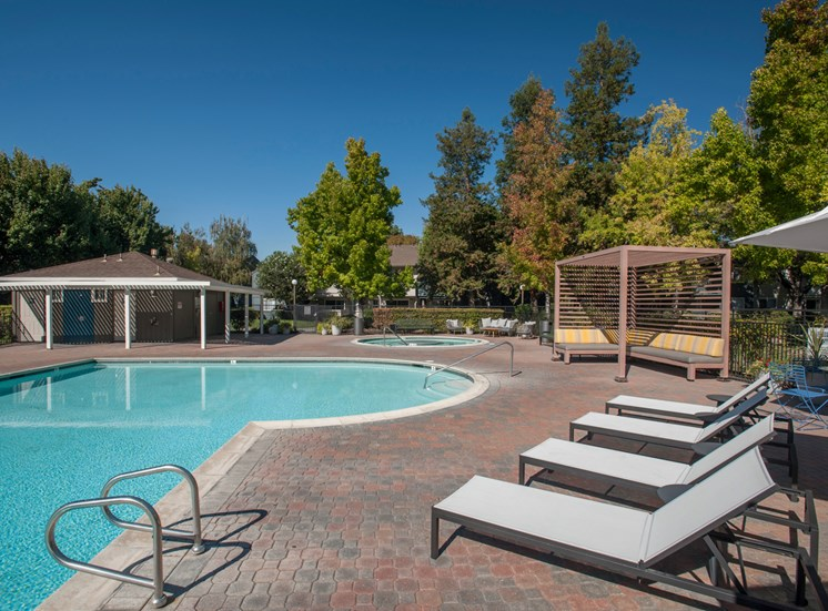 Poolside Sundeck and Grilling Area at Sagemark, California, 95136