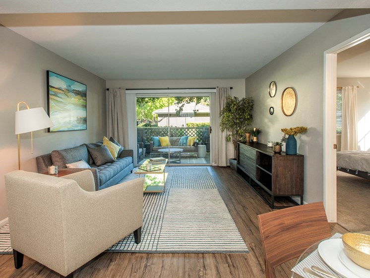 Private Patio with Extra Storage Space at Sagemark, California, 95136