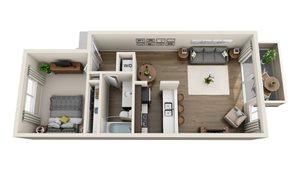 Floor plan at Sagemark, San Jose,California