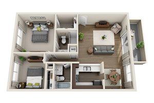 Floor plan at Sagemark, California, 95136