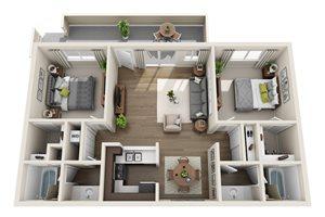 Floor plan at Sagemark, San Jose, CA