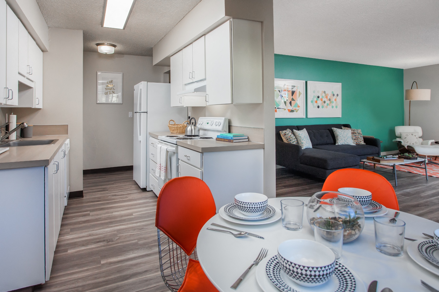 White Appliances and Cabinetry at Garden Park, Portland
