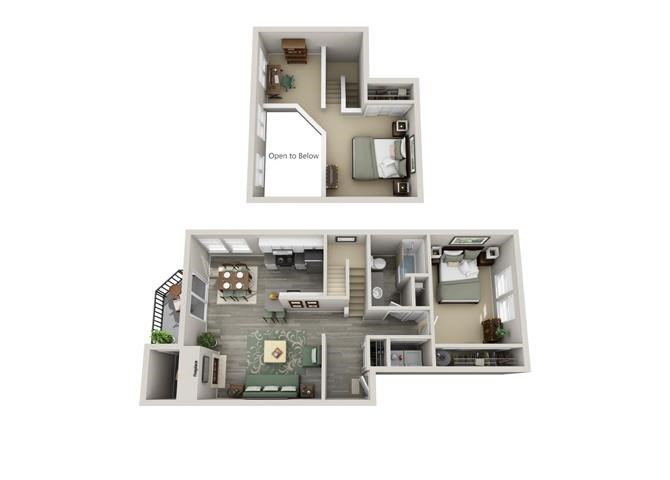 Floor plan at Parkridge Apartments, Oregon, 97035