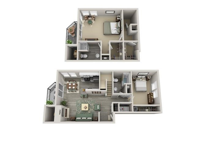 Floor plan at Parkridge Apartments, Lake Oswego, 97035