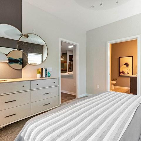 Bedroom With Adequate Storage at Jamison at Brier Creek, Raleigh, NC, 27617