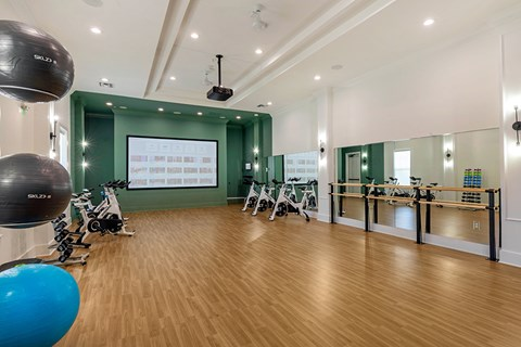 Fitness Center With Updated Equipment at Jamison at Brier Creek, Raleigh, NC, 27617