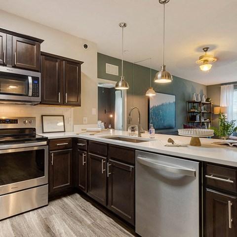 Fully Equipped Kitchen at Jamison at Brier Creek, Raleigh, North Carolina