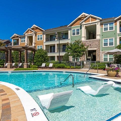 Swimming Pool With Sparkling Water at Jamison at Brier Creek, North Carolina