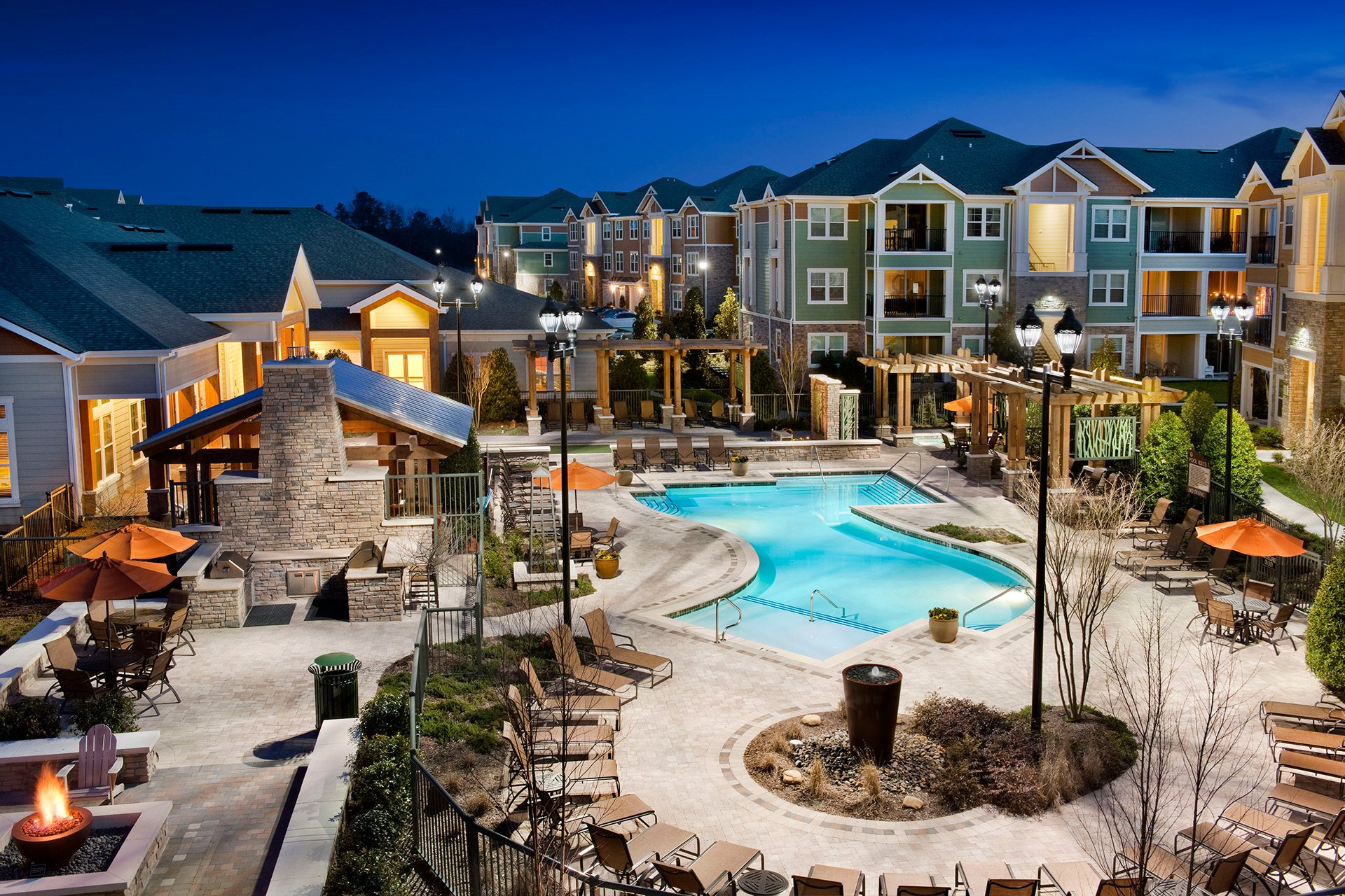 Pool With Sunning Deck at Jamison at Brier Creek, Raleigh, NC