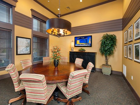 Conference Room With Tv at Jamison at Brier Creek, Raleigh, 27617