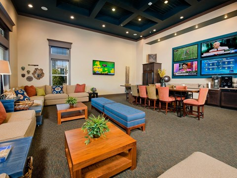 Community Clubhouse With Tv at Jamison at Brier Creek, North Carolina