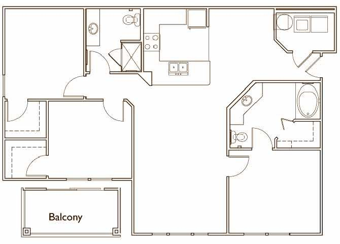 The Elm Three Bed Two Bath Floor Plan at Jamison at Brier Creek, Raleigh