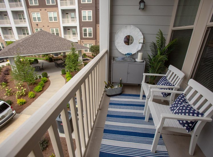 Private balcony at Legacy at Walton Green, Augusta, GA