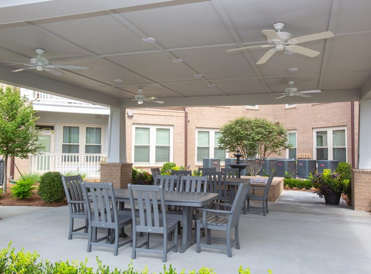 Covered patio at Legacy at Walton Green, Augusta, GA