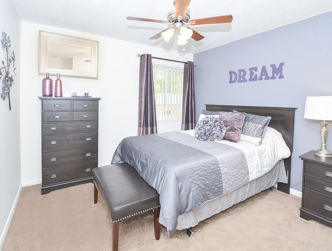 Ceiling fans in bedrooms