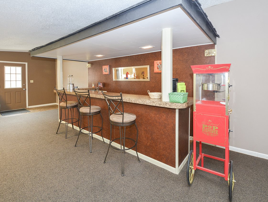 Clubhouse with popcorn machine