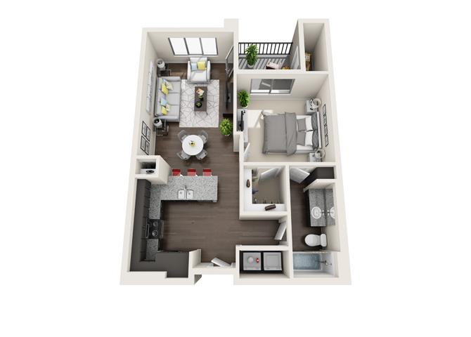 Floor plan at Trellis, Phoenix, 85022