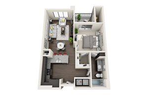 Floor plan at Trellis, Phoenix, 85022