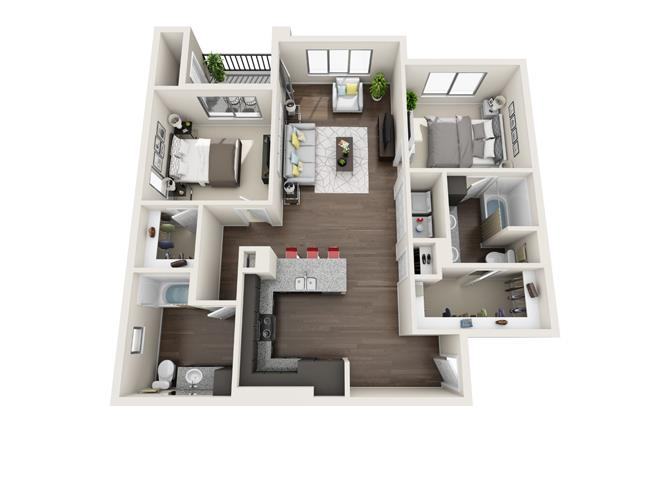 Floor plan at Trellis, Arizona