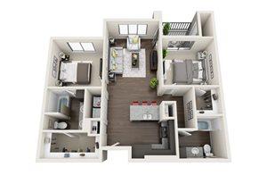 Floor plan at Trellis, Phoenix