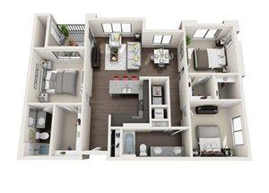 Floor plan at Trellis, Arizona, 85022