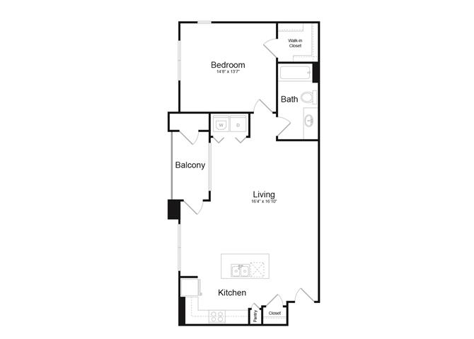 Floor plan at Trellis, Phoenix, Arizona